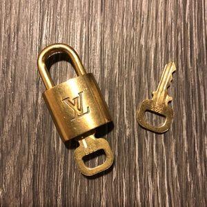 Louis Vuitton Padlock Lock & Keys #323
